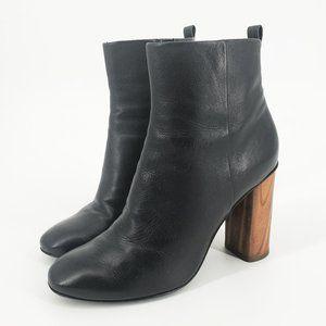Tory Burch Raya Wood Block Heel Leather An…